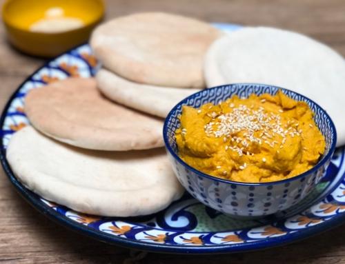 Pompoen hummus groentedip; gezond en veelzijdig