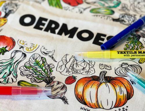 Winnen: een OERMOES tas om in te kleuren!